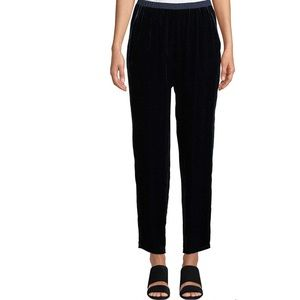 Eileen Fisher Velvet Midnight Ankle Pants Navy